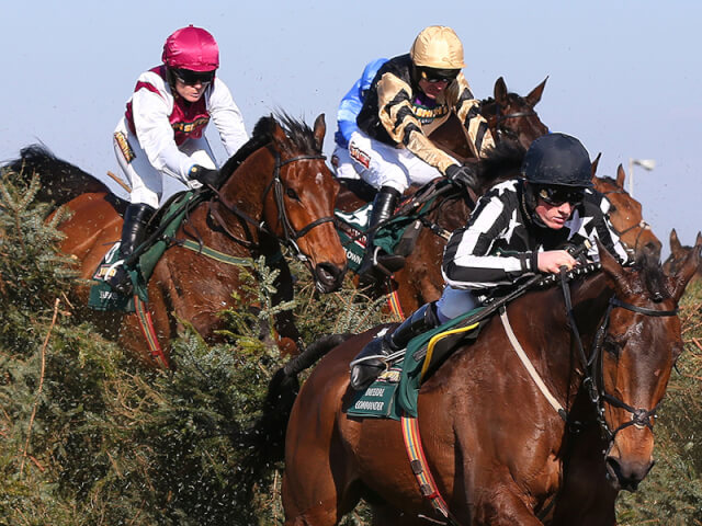 Katie Walsh rides Seabass in the Grand National