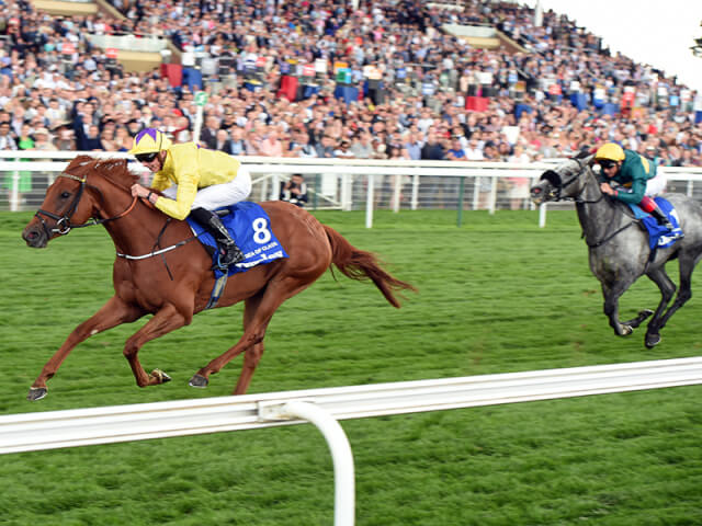 Sea Of Class wins the Yorkshire Oaks
