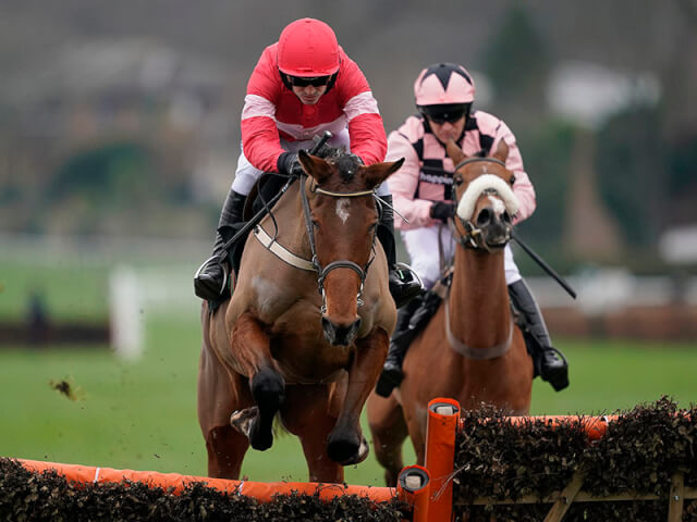 Laurina wins the Unibet Mares' Hurdle at Sandown