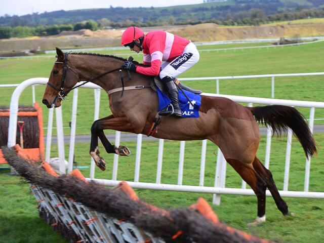 Laurina wins the Listed Quevega Mares Hurdle at Punchestown