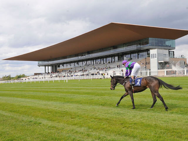 The stand at the new Curragh