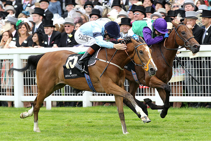 Memory wins the 2010 Albany Stakes, Royal Ascot