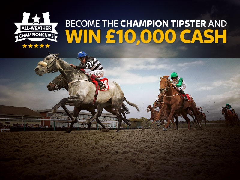 Win £10,000 Cash & Become the All-Weather Champion Tipster.