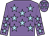 Mauve, light blue stars