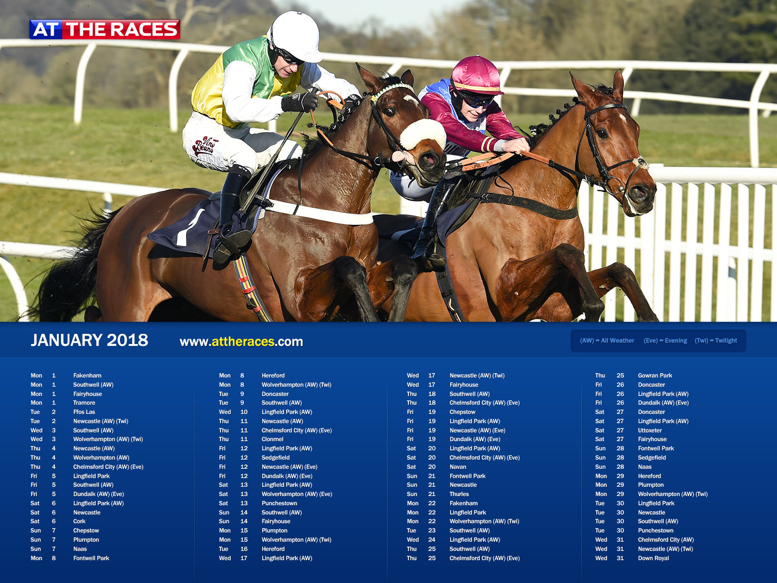 At The Races 2018 Calendar   At The Races