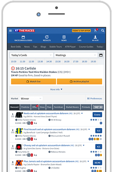 Download the At The Races mobile and tablet app - Refit | At The Races